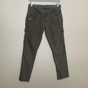 Blank NYC olive cargo skinny pants size 30
